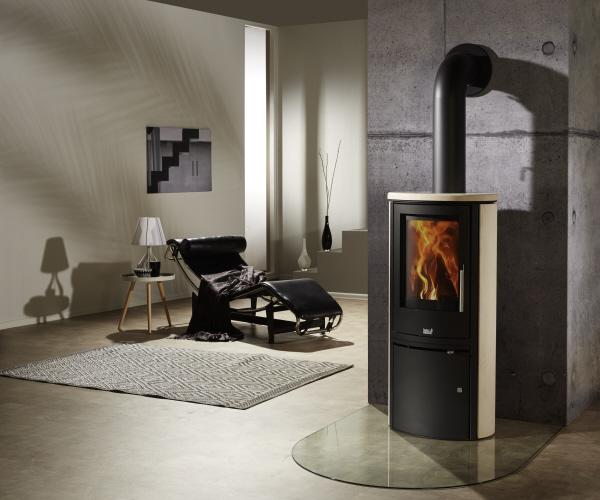 kaminofen viva creme von feuer flamme. Black Bedroom Furniture Sets. Home Design Ideas