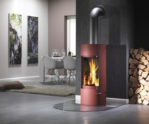 kaminofen cian mini rot von feuer und flamme. Black Bedroom Furniture Sets. Home Design Ideas