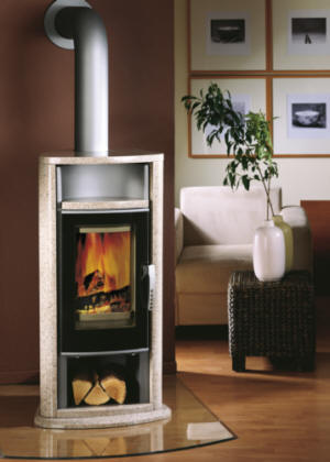 kaminofen artemis rosenbeige oranier kaminoefen. Black Bedroom Furniture Sets. Home Design Ideas
