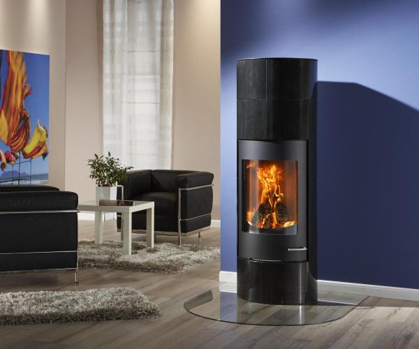 kaminofen sol granit schwarz von feuer und flamme. Black Bedroom Furniture Sets. Home Design Ideas